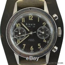 Airain Chronographe Type 20 Air Force French Army Flyback 1958
