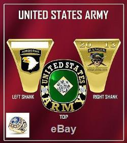 Anneaux Militaire Sur Mesure Armée, Marine, Armée De L'air, La Marine Et La Garde Nationale Anneau