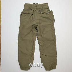 Années 1940 Type A-9 Fur Lined Air Force USA Army Flight Pants Vintage Military Ww2
