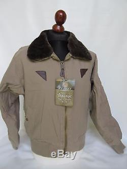 Armée De L'air Américaine Usaaf Vintage B-15a Flightjacket Bomberjacke Khaki M-1946 Wk2