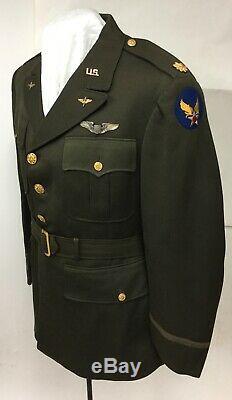 Armée De L'air Corp Officier Veste Air Force Ailes Pilotes De Vol De Grande Taille 44 Usaaf