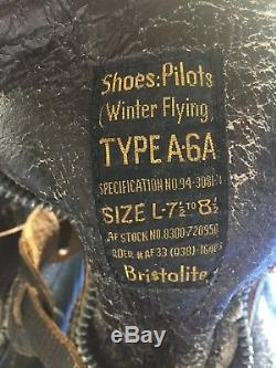 Armée De L'air De L'armée De L'air De La Seconde Guerre Mondiale Usaaf Bristolite A-6a Flight Boots