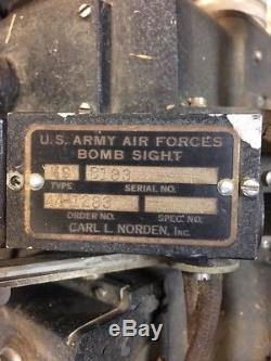 Armée De L'air De L'armée De L'air Des États-unis Seconde Guerre Mondiale Norden M-9 Bombsight