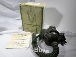 Armée De L'air Des États-unis De La Seconde Guerre Mondiale Type A-14 Masques À Oxygène Dans Une Boîte