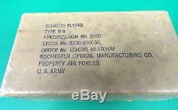 Armée De L'air Forces B-8 Flying Lunettes Withbox & Instructions-rochester Optique