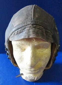 Armée De L'air Forces Type Pilotes A-11 En Cuir Flying Helmet- Large. Withanb-h-1