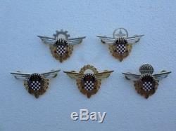 Armée De La Croatie, Hv, Insigne En Métal Air Force, Parachute, Navigator, Pilote 1hg Zbor