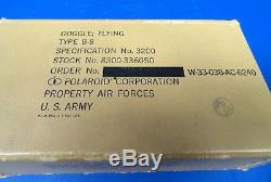 Army Air Forces B-8 Lunettes Volantes Avec Box & Accessoires-non Utilisés