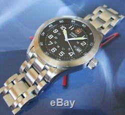Armyraire Suisse Victorinox Message Airboss Mach 1 Bracelet Airforcesapphire + Ssnice
