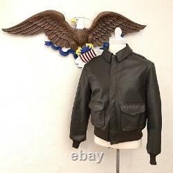 Avirex USA Armée De L'air Bomber Veste De Vol En Cuir Hommes Sz 44