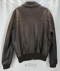 Avirex Vintage Cuir Veste Flight Bomber A-2 Us Army Air Force Taille 38 Petit
