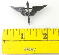 Badge En Argent Sterling Et Bronze De L'armée De L'air Américaine Tiffany & Co. T70y