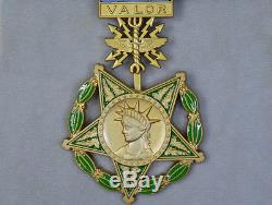 Badge Ordin Us USA Première Guerre Mondiale, Seconde Guerre Mondiale, Armée De Terre, Marine, Armée De L'air, Ensemble Complet D'honneur De La Médaille Rare
