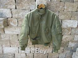 Blouson De Chasse Fliegerjacke De L'armée De L'air Américaine Cwu 36 / P Usaf Vietnam Temps Froid