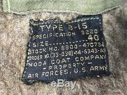 Blouson De Sauvetage B-15 Original De L'armée De L'air Américaine