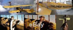 Bomber Waldo Pepper Army Aero Pilot Flight - Veste En Cuir Véritable Airforce Crop Jet