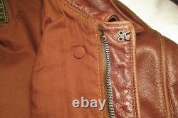 Bronco Mfg A2 Army Air Forces Horsehide Flying Jacket Par Goodwear Size 44