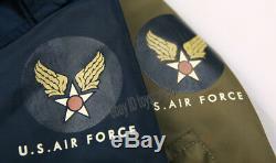 Bronson Hommes L2b Air Force Bomber Veste Ma1 Militaire Hiver Chaud Vintage Manteaux