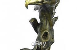 Bronze Sculpture Figurine 15x8 Marbre Aigle Tête Buste Militaire Armée De L'air M