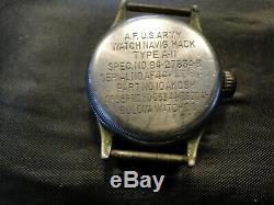 Bulova Type A-11 Contrat De La Seconde Guerre Mondiale Armée Hack Watch Army Air Force As As