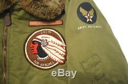 Buzz Air Apaches Rickson B-15 Us Army Air Forces Flight Jacket Taille Men 42 De