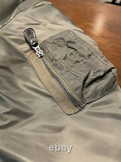 Buzz Rickson's Sage Green Ma-1 (taille M) Made In Japan Slender (br13573)