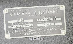 Caméra K-20 De L'armée De L'air Américaine, Appareil Photo Excellent État Dans La Boîte De La Seconde Guerre Mondiale