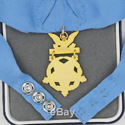 Cased Us Orden Badge Medal Of Honor, Ministère De La Santé, Armée, Marine, Air Force, Rare