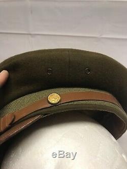 Casque De Broyeur Avec Officier Supérieur Berkshire Deluxe De L'armée De Terre Américaine Ww2