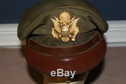 Casque De Visière Avec Broyeur De Laine Des Premiers Officiers Des Forces Aériennes De L'armée De Terre De La Seconde Guerre Mondiale