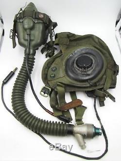 Casque Et Masque De Vol D'été De L'armée Américaine / Air Force En Nylon Et En Cuir Vintage