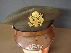 Casque Od Elastique Du Concasseur Pilote De L'armée De L'air Américaine Ww2