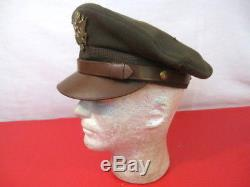 Casque Ou Chapeau De Broyeur D'officier De L'armée De L'air De L'armée De L'air Des États-unis Pendant La Seconde Guerre Mondiale Taille 7 Original