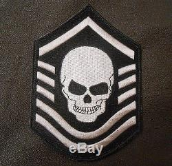 Chevron Crâne Us Force Armée Isaf Swat Velcro Marque Fastener Patch 5