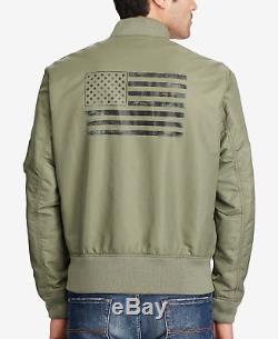Denim Supply Ralph Lauren Armée De Terre Armée De L'air USA Flag Flight Bomber Jacket