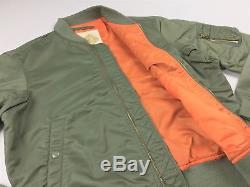 Denim Supply Ralph Lauren Militaire Armée De L'air Des États-unis Drapeau Vol Bomber Jacket