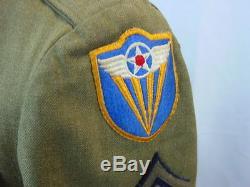 Deuxième Guerre 4ème Armée Armée De L'air Ww2 Groupe Tunique Uniforme Veste Chemise 2 Chapeaux