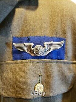 Deuxième Guerre 8e Armée Armée De L'air Blue Back Wing Uniforme Avec La Recherche