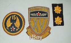 Deuxième Guerre Mondiale Us Army Air Force Aaf Flight Squadron Patches Leather Theatre Made Italian