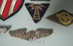 Deuxième Guerre Mondiale Us Army Air Force Aaf Flight Squadron Patches Théâtre Made Bullion Cbi