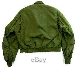 Ect Air Force Army Bombardier Pilote Flieger Jacke 52 L