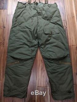 Eddie Bauer Us Army Wwii Air Force De Type A-8 Pantalon Vers Le Bas Temps Froid Vol 42 44