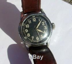 Elgin Us Army Air Force 16j A-11 E Année Militaire 539 Fonctionne Bien 1944 Wwii Montre