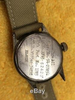Elgin Ww2 Af Forces Aeriennes De L'armée Américaine A-11 16 Jewels Cal. 539 Piratage 1943 Travaux