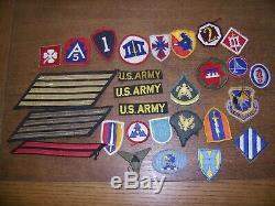 Énorme Lot De Patchs Militaires De La Période De La Seconde Guerre Mondiale (seconde Guerre Mondiale) (armée De Terre, Marine Et Armée De L'air)