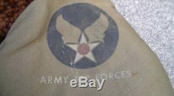 Ère Ancienne Ww2 Usaaf Army Air Forces Jacket Flight Pilot Type De Taille B-5a 38 Utilisé