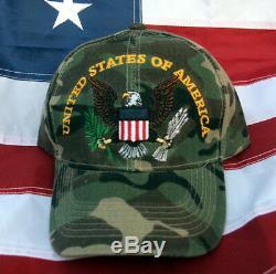 Etats-unis D'amérique Eagle Hat Casquette Us Army Marines Armée De L'air Marine Uscg Camo