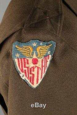 Eto Made Ike Jacket Des Officiers De L'armée De L'air Américaine De La Seconde Guerre Mondiale Portant Le Numéro Usstaf Ww2 # 7517