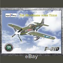 Flight Wing 1/18 P51 Seconde Guerre Mondiale Us Army Air Force Easy Mustang Modèle D'avion De Chasse
