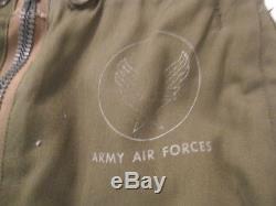 Force Aérienne De L'armée De L'air De La Seconde Guerre Mondiale Type A-11 Pantalon De Vol Avec Des Tailles De Taille 30 Xlnt